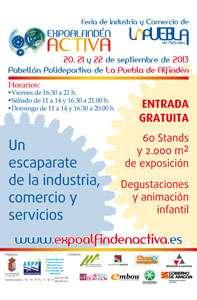 cartel Portada Feria de Industria y comercio de La Puebla de Alfindén